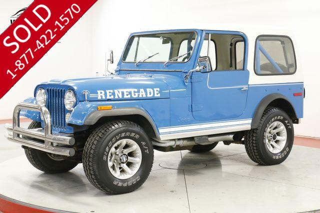 1978 AMER JEEP CJ-7 RARE RENEGADE V8 UPGRADES FACTORY AC HARDTOP