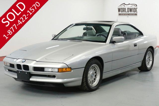 1992 BMW 850I TWO OWNER! COLLECTOR GRADE. 79K MILES. DOCS!