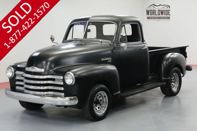 1951 CHEVROLET 3100 FIVE WINDOW PICKUP PS PB 350 V8 AUTOMATIC