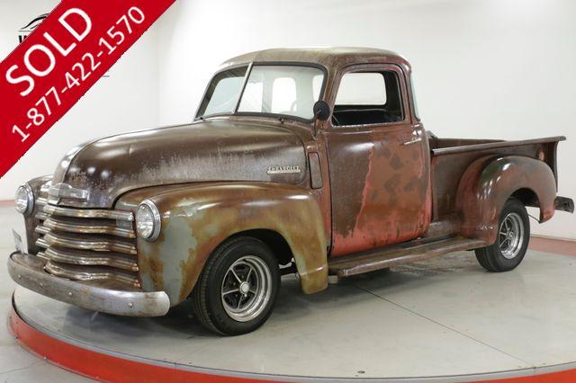 1948 CHEVROLET  3100 RARE 5 WINDOW AUTO PATINA DISC RAT ROD