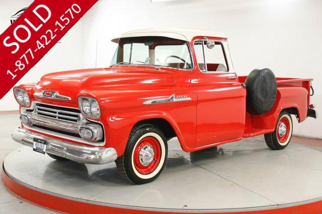 1958 CHEVROLET APACHE RESTORED BIG WINDOW WHITE WALLS WOOD BED