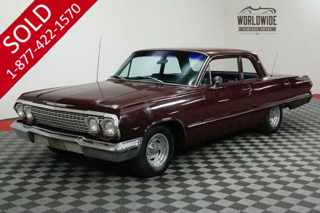 1963 CHEVROLET BEL AIR RESTORED. 350 V8 4 BOLT AUTOMATIC