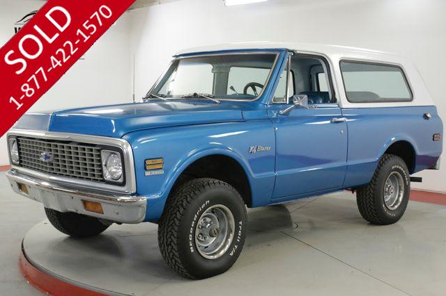 1971 CHEVROLET  BLAZER CST K5. REMOVABLE HARDTOP. 4x4 V8 PS PB AUTO
