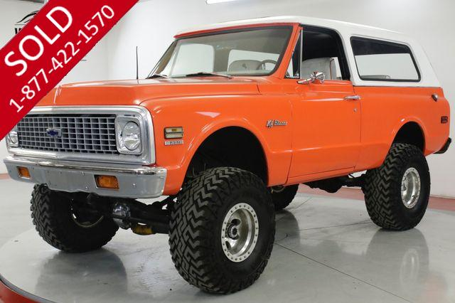 1972 CHEVROLET  BLAZER RESTORED HUGGER ORANGE CONVERTIBLE V8 LIFT