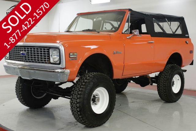 1972 CHEVROLET BLAZER HUGGER ORANGE BIG BLOCK 454 LIFT 4x4 AUTO