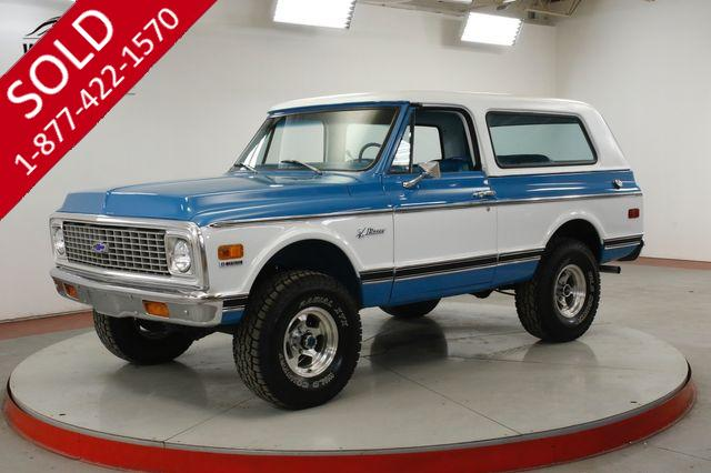 1972 CHEVROLET BLAZER FRAME OFF RESTORED TWO TONE PS PB AUTO V8