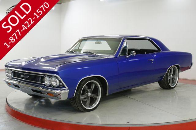 1966 CHEVROLET  CHEVELLE  RESTOMOD PS PB VINTAGE AC CUSTOM WHEELS