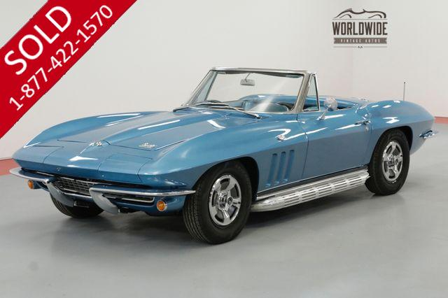 1966 CHEVROLET CORVETTE RESTORED CONVERTIBLE FACTORY OPTIONS 4 SPEED