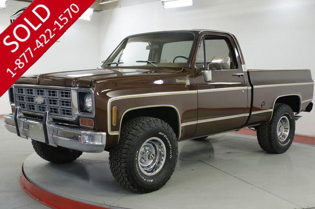 1977 CHEVROLET K10 SHORT BED 4x4! COLLECTOR SQUARE BODY