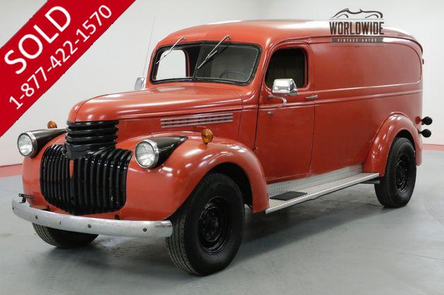1946 CHEVROLET PANEL WAGON ORIGINALLY FIRE CHIEFS TRUCK