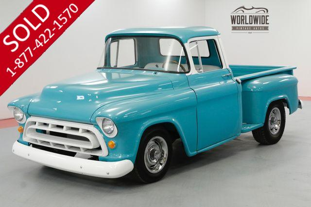 1956 CHEVROLET TRUCK RESTORED SHORT BED PICKUP PS PB V8
