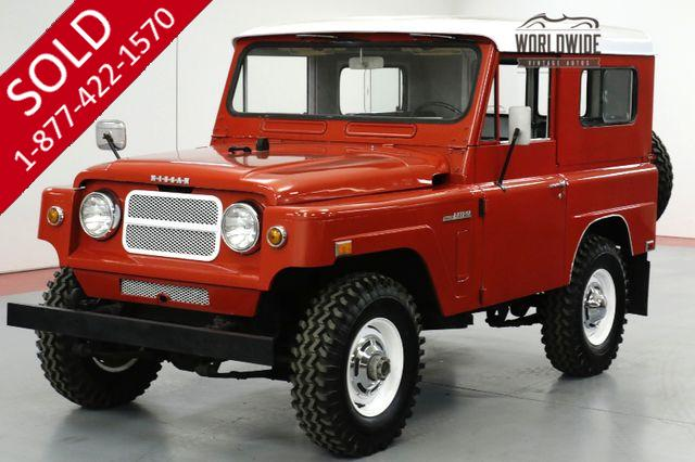 1969 DATSON PATROL HIGH DOLLAR RESTORATION. RARE 4x4. COLLECTOR