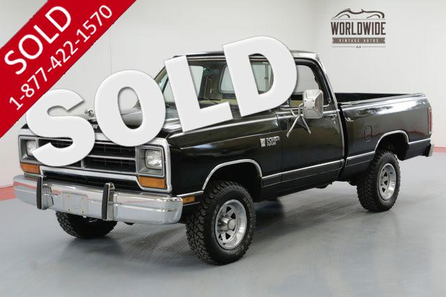 1986 DODGE D/W SERIES 53K ORIGINAL MILES COLLECTOR 4X4 WITH AC