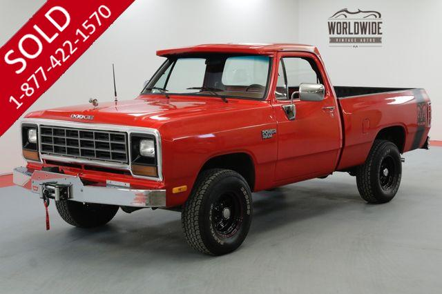 1985 DODGE POWER RAM 4X4 RESTORED CUSTOM RARE V8 PS PB