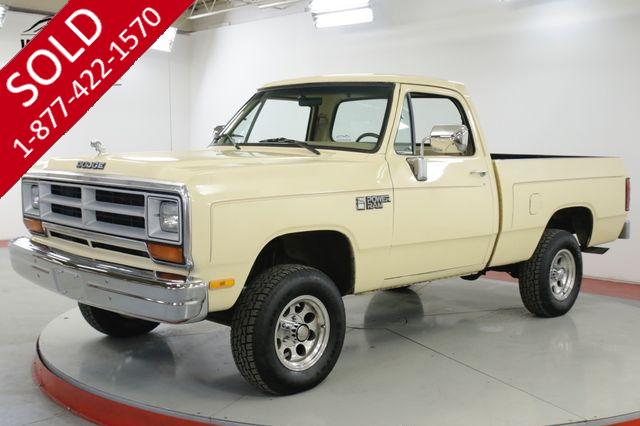 1986 DODGE  POWER RAM W100 FACTORY 4X4 PS PB AC TIME CAPSULE