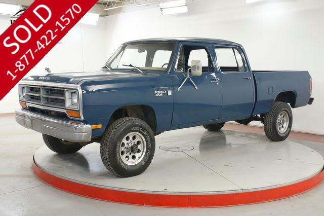 1981 DODGE  POWER RAM  CREW CAB 4X4 PS PB V8 ULTRA RARE NEW PAINT