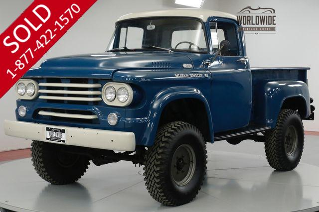 1958 DODGE  POWER WAGON  RARE LIFTED 4X4 273 V8 AUTOMATIC