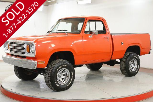 1978 DODGE  POWER WAGON W100 4X4 PS PB V8 LIFTED SHORT BOX COLLECTOR