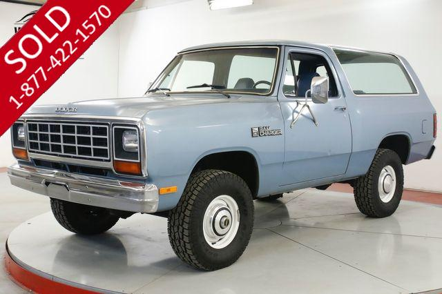 1984 DODGE  RAM CHARGER 4X4 42K ORIGINAL MILES COLLECTOR PS PB AC V8