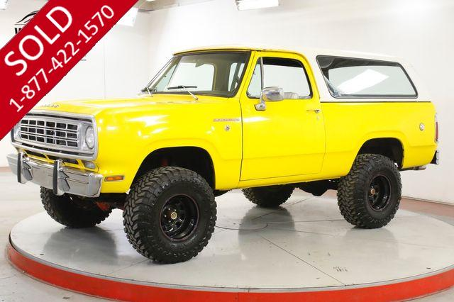 1976 DODGE  RAMCHARGER SE 4X4 PS PB REMOVABLE TOP 440 V8 EFI