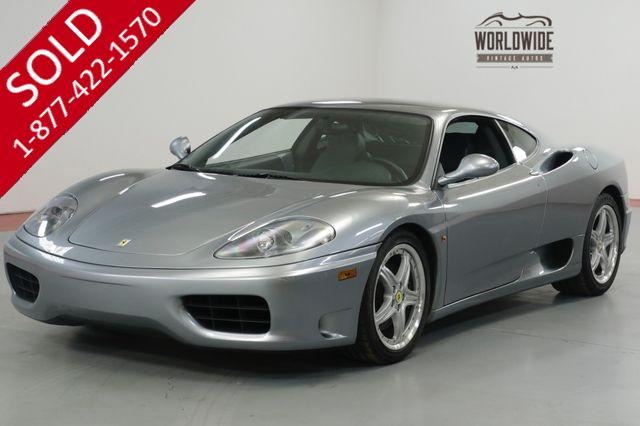 2004 FERRARI  360 MODENA. COLLECTOR GRADE. 16K MILES! RECORDS