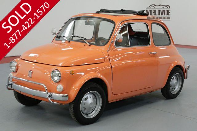 1972 FIAT 500 ITALIAN IMPORT! 652CC MOTOR. 5-SPEED MANUAL