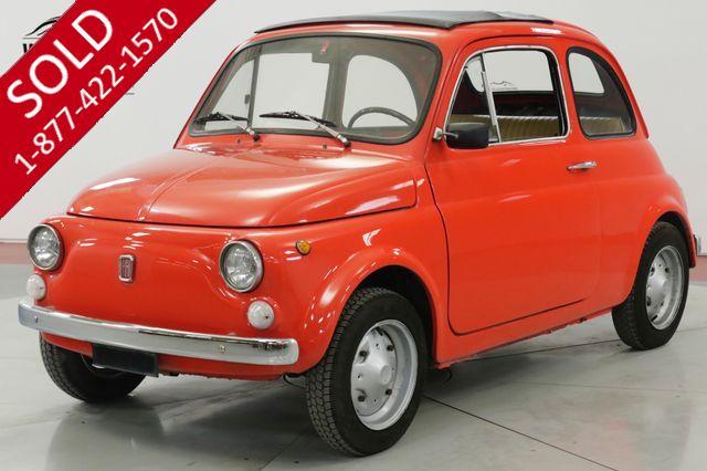 1969 FIAT  500 ITALIAN MICROCAR RAGTOP SUNROOF 650CC 4SPD (VIP)