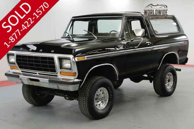 1979 FORD BRONCO RARE SECOND GENERATION CONVERTIBLE