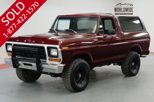 1979 FORD BRONCO FRAME UP RESTORED 460 V8 AUTO COLD AC