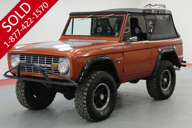 1976 FORD BRONCO RESTORED CUSTOM WHEELS PS PB 4X4 CONVERTIBLE