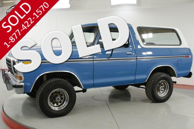 1978 FORD  BRONCO  RANGER XLT 4X4 REMOVABLE TOP V8 AUTO PS PB