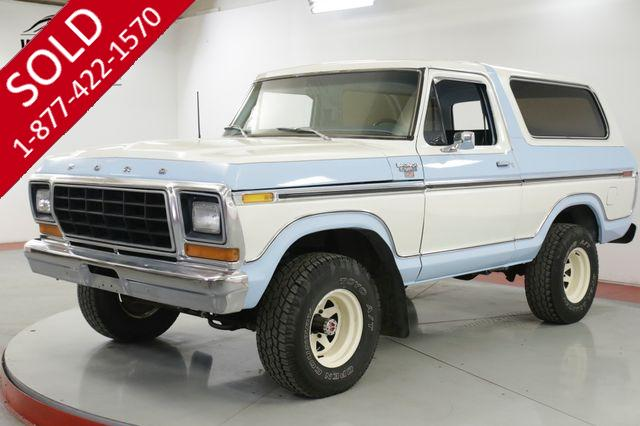 1978 FORD  BRONCO  RANGER XLT 351M AUTO PS PB REMOVABLE TOP