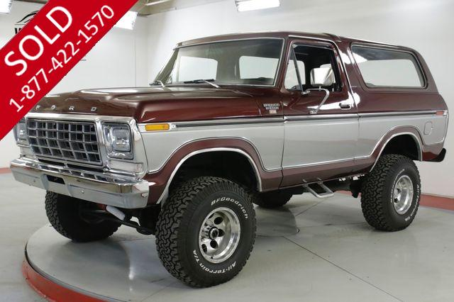 1978 FORD  BRONCO  XLT 4x4 RESTORED CHROME V8 PS PB CONVERTIBLE