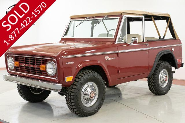 1969 FORD  BRONCO SPORT FRAME OFF RESTORATION $60K+ BUILD V8