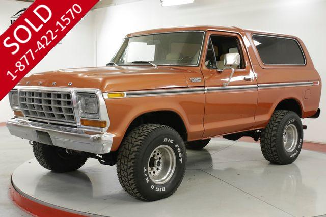 1978 FORD BRONCO  RESTORED CONVERTIBLE 460 V8 AC PS PB AUTO