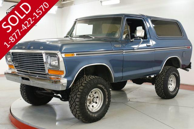 1979 FORD BRONCO RESTORED CHROME 351 V8 LIFT PS PB AUTO 4x4