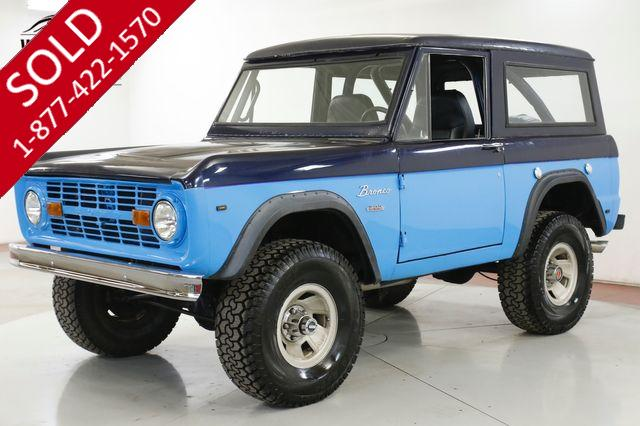 1969 FORD BRONCO 302 V8 AUTOMATIC 4X4 REMOVABLE TOP PS