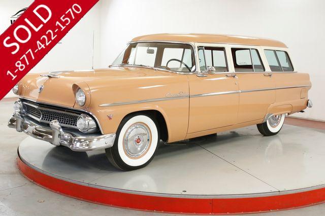 1955 FORD  COUNTRY SEDAN BUCKSKIN 162 HP V8 DELUXE HEATER WHITE WALL