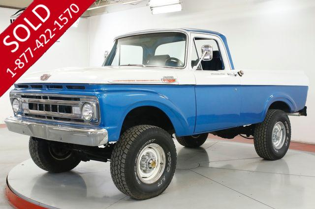 1961 FORD F100 RARE UNIBODY. 4x4 SHORT BED BIG BLOCK V8