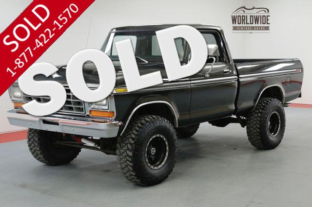 1979 FORD F150 4X4 SHORT BED LIFTED 351 V8 5 SPEED AC!