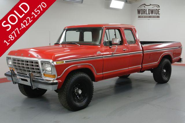 1978 FORD F150 EXTENDED CAB 4x4! RARE. RESTORED! V8!