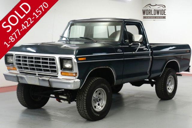 1977 FORD  F150 TRUCK. TIME CAPSULE. COLLECTOR 4x4. V8! PS!