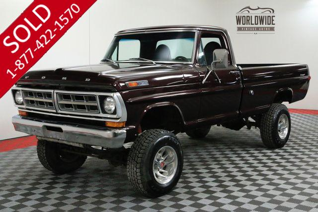 1972 FORD F250 RANGER HIGHBOY 4X4 LIFTED NEW 390V8