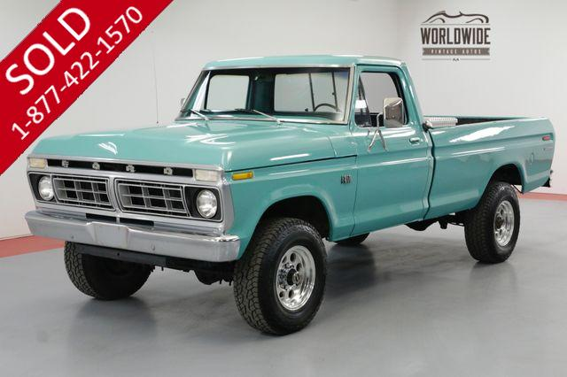 1976 FORD F250 HIGHBOY VERY CLEAN 390V8 AUTOMATIC 4X4 PS PB