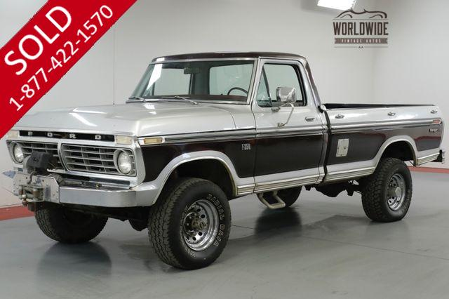 1975 FORD  F250  RANGER XLT 4X4! 390 V8. AUTOMATIC.