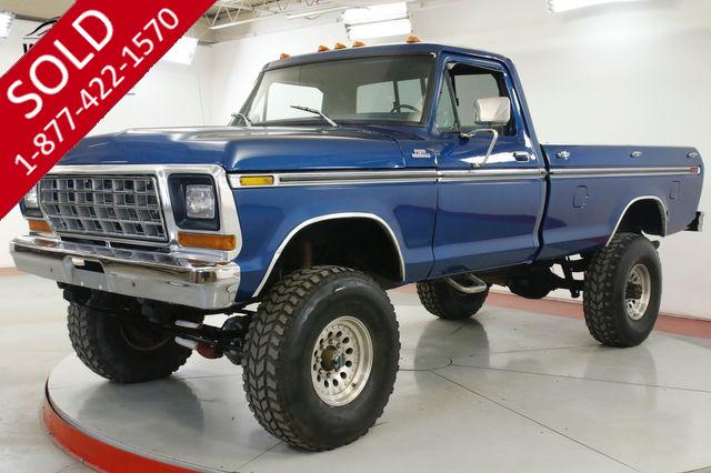 1979 FORD F250 FACTORY HIGHBOY. 400 V8 4-SPEED 4X4 PS PB
