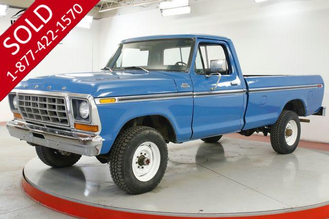 1978 FORD  F250 400 V8 4SPD SURVIVOR ORIGINAL PAINT PS PB