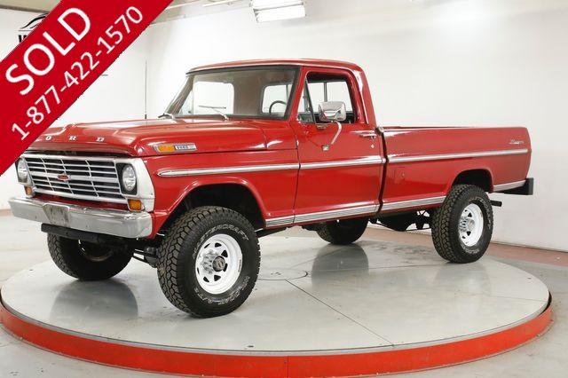 1969 FORD F250  RANGER HIGH BOY 4x4 TIME CAPSULE 360 V8 4SPD