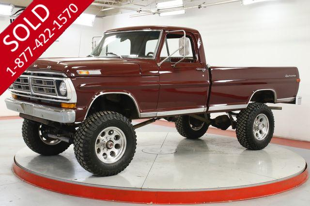 1972 FORD F250  RARE HIGHBOY MANY UPGRADES V8 NEW PAINT LIFT
