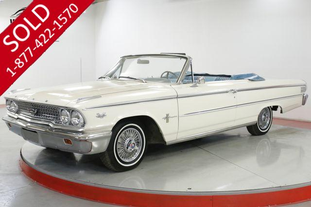 1963 FORD GALAXIE SKYLINE RARE CONVERTIBLE 390 NEW PAINT AND TOP